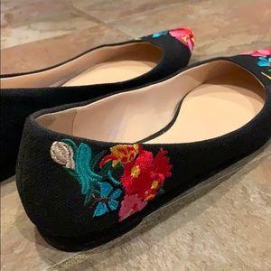 Nine West Shoes - Embroidered Nine West Suziella Flats